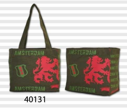 Amsterdam Canvas Small Lion Olive