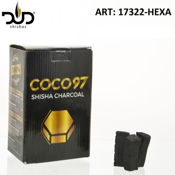 DUD Shisha | CoCo 97 Hexa-charcoal-64pcs/box