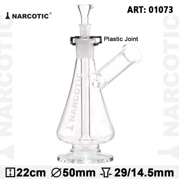 Glass Bong Narcotic - H:22cm - plastic joint