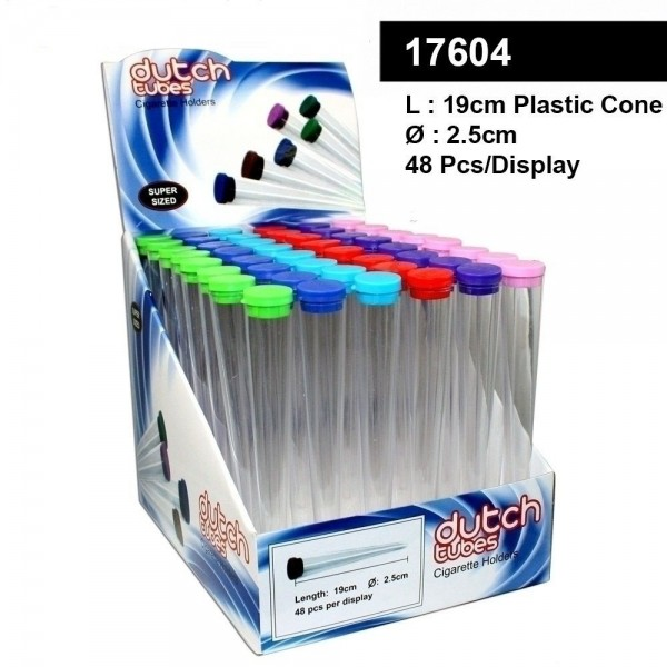 48 x Plastic Cones- Dutch SuperSize- L:19cm- Ø:2,5cm
