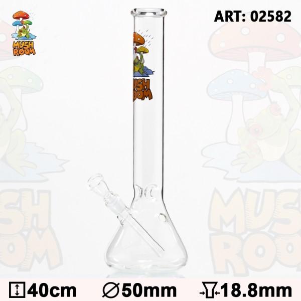 Mushroom | With Frog Glass Bong Ø: 50 mm H: 40cm Socket: 18.8 mm