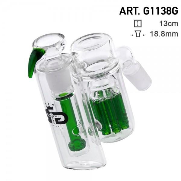Grace Glass   Precooler Double Percolators Green
