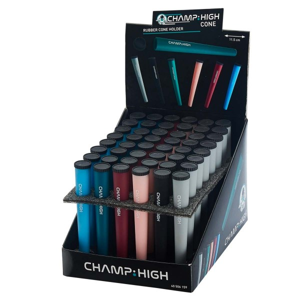 Champ   Cone Holder with different colors and there are 48 pcs in a display
