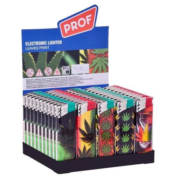 Prof | Rasta Leaf lighters 50 pcs in a display