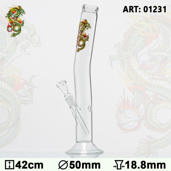 Tattoo Glass Bong - H:42cm - Ø:50mm- Socket:18.8mm