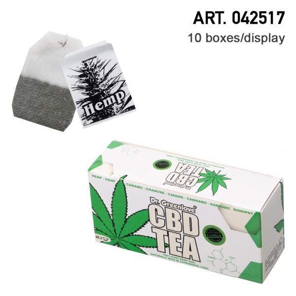 Cannabis | CBD Tea, made from 100% real cannabis buds! 20 herbal tea bags. Amsterdam High Tea! 10 bo