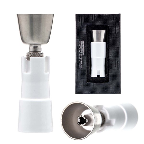 Grace Glass   Titanium Ceramic large domeless nail with ceramic connector. SG: 18.8mm/14.5mm (female