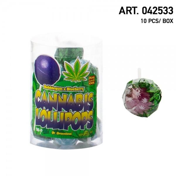 Cannabis | Lollipops Blueberry Haze with Bubblegum 10 pcs in a box