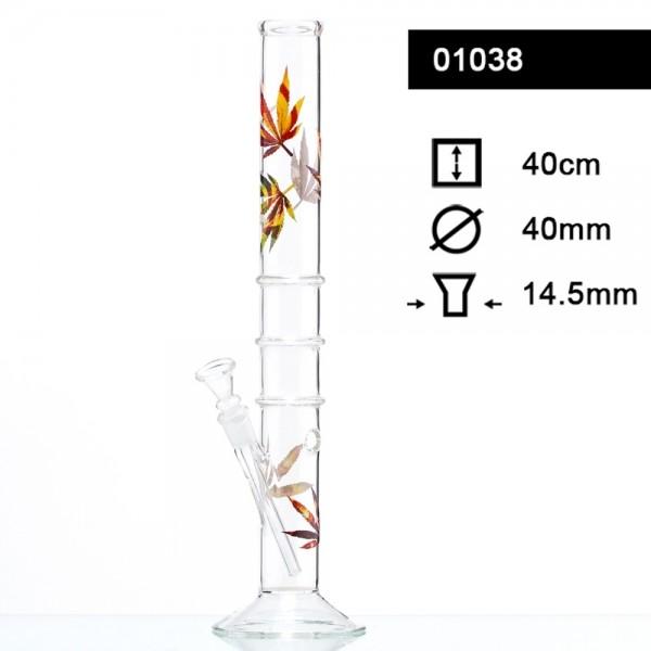 Multi Leaf Glass Bong - H:40cm- Ø:40mm- Socket:14.5mm